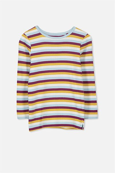 Jessie Crew Long Sleeve Tee, RETRO STRIPE