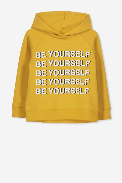 Scarlett Hoodie, MINERAL YELLOW/BE YOURSELF