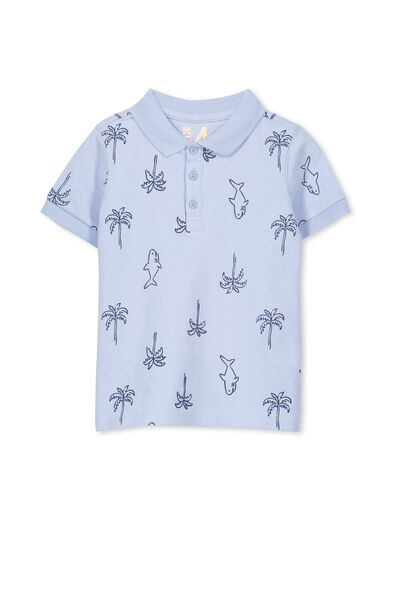Kenny3 Polo, EXCLUSIVE BLUE/SHARKS