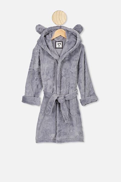 Boys Hooded Gown, GREY BUNNY