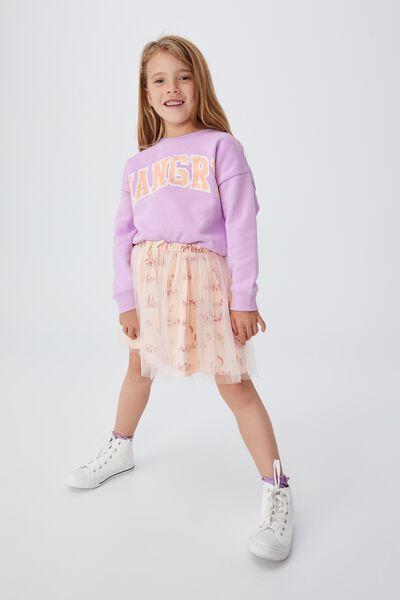 Sadie Dress Up Skirt, PEACH TANG/UNICORN MEADOW