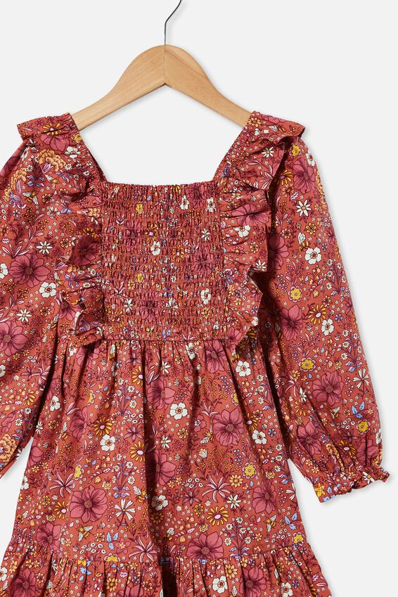 Jenna Long Sleeve Dress, CHUTNEY GARDEN FLORAL