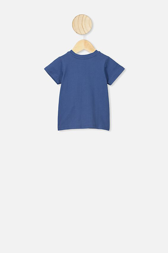 Jamie Short Sleeve Tee, PETTY BLUE CHANGE THE WORLD
