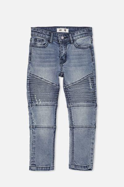 Marshall Slim Leg Jean, MOTO CRYPTIC BLUE 2