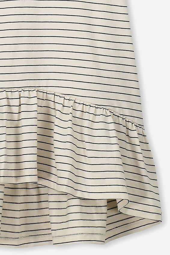 Joss Short Sleeve Dress, DARK VANILLA/INDIAN INK STRIPE
