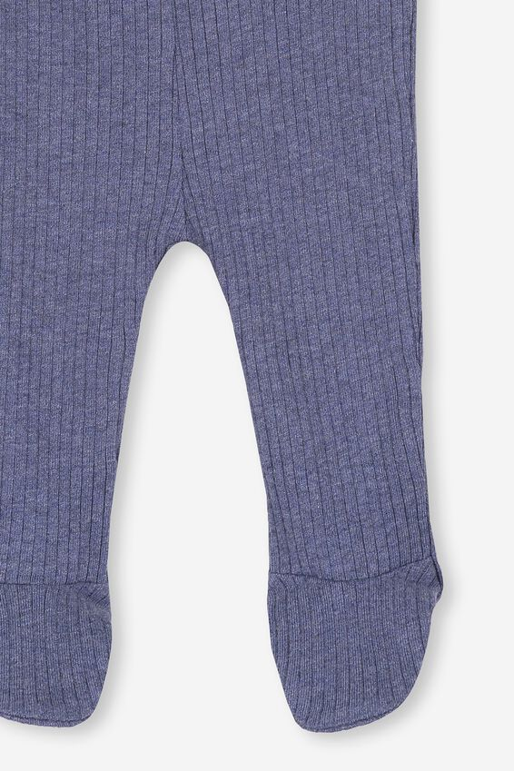 The Footed Rib Legging, INDIAN INK MARLE