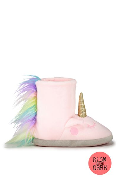 Novelty Homeboot, GLOW IN THE DARK UNICORN