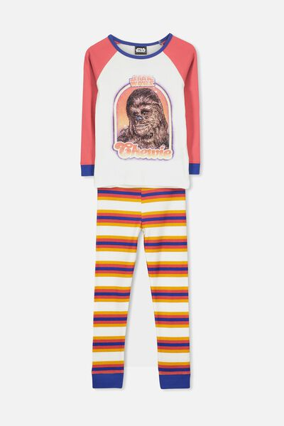 11f9824c Jacob Boys Long Sleeve Raglan PJ Set, LCN LU STAR WARS CHEWIE