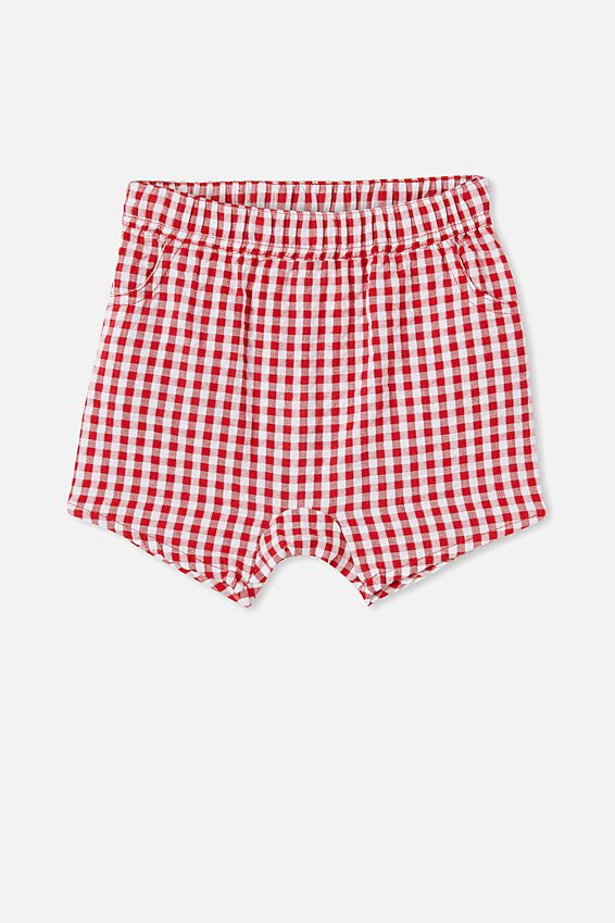 Kelly Short, LUCKY RED/MINI GINGHAM