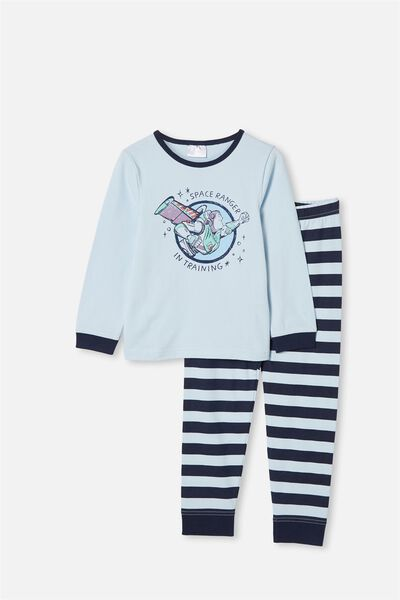 Orlando Long Sleeve Pyjama Set, LCN DIS BUZZ SPACE RANGER FROSTY BLUE