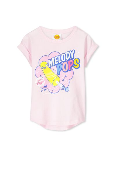 Lux Slouch Tee, MELODY POPS/PINK TINT