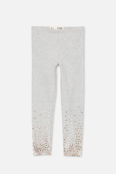 Huggie Leggings, LT GREY MARLE/GRADIENT ROSE GOLD SPOT