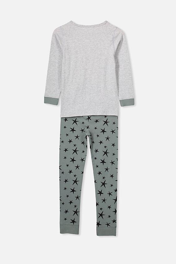 Harrison Long Sleeve Pyjama Set- Personlised, XMAS DINO/PERSONALISED