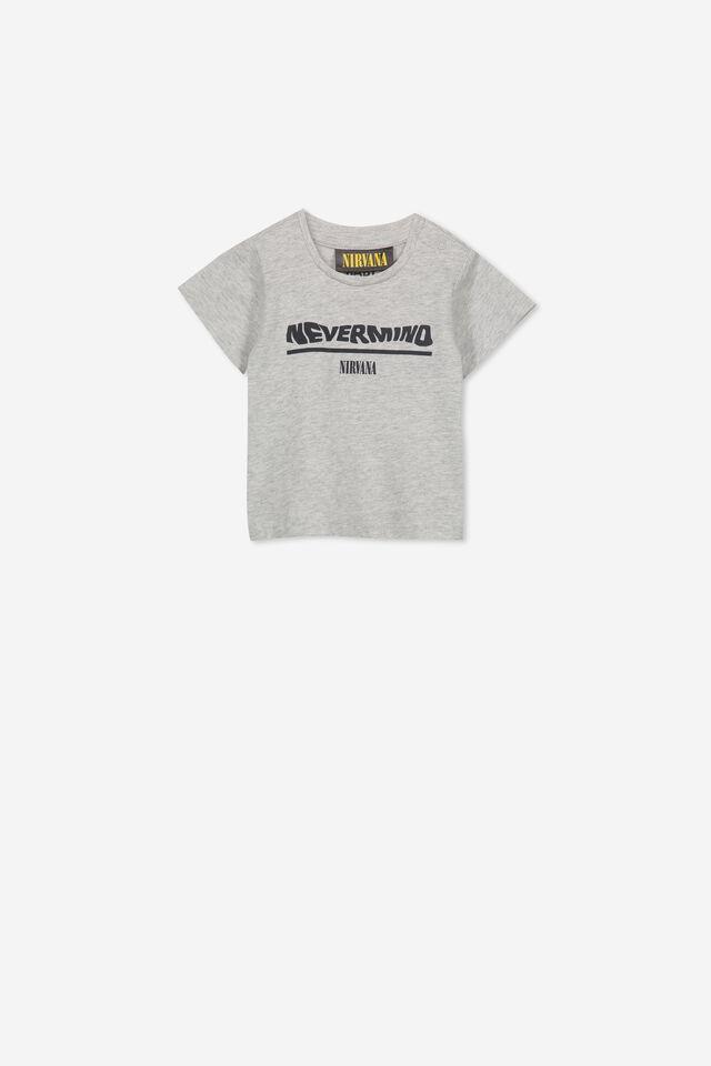 Nirvana Short Sleeve Baby Tee, LCN LN CLOUD MARLE NEVERMIND