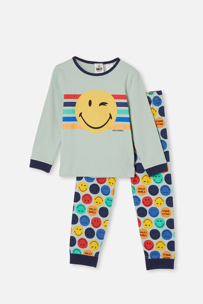 Orlando Long Sleeve Pyjama Set Licensed, LCN SMILEY FACE DUCK EGG