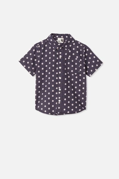 Resort Short Sleeve Shirt, DAISY/VINTAGE NAVY