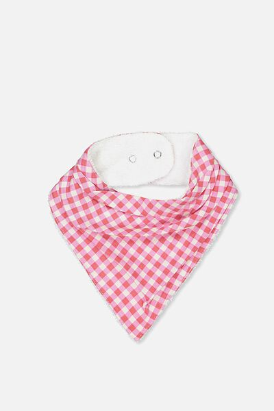 Dribble Bib, DARK VANILLA/GINGHAM