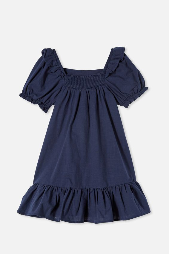 Aimee Short Sleeve Dress, INDIGO