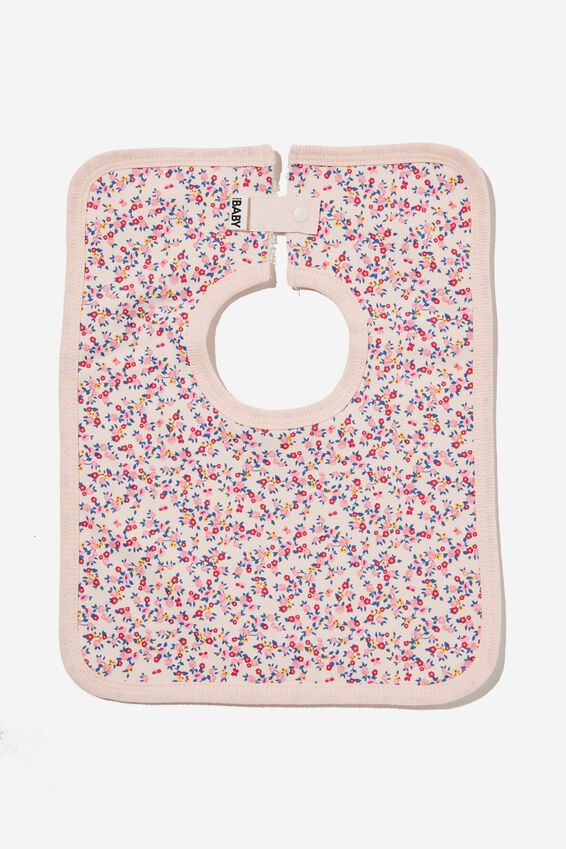 The Square Bib, CRYSTAL PINK/FUSCHIA POP SOMERSET FLORAL