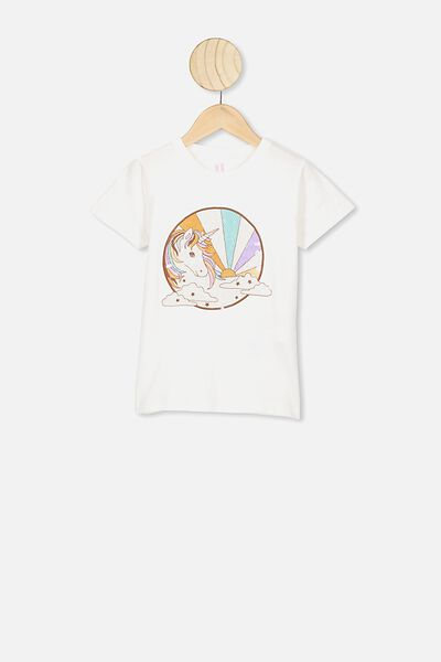 Stevie Ss Embellished Tee, VANILLA/SEVENTIES UNICORN