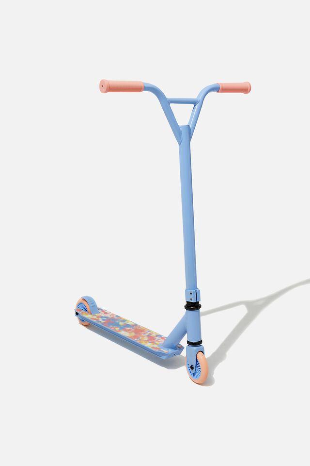 Kids Scooter, DUSK BLUE/RAINBOW TIE DYE