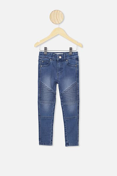 Carrie Moto Jean, BLUE WASH