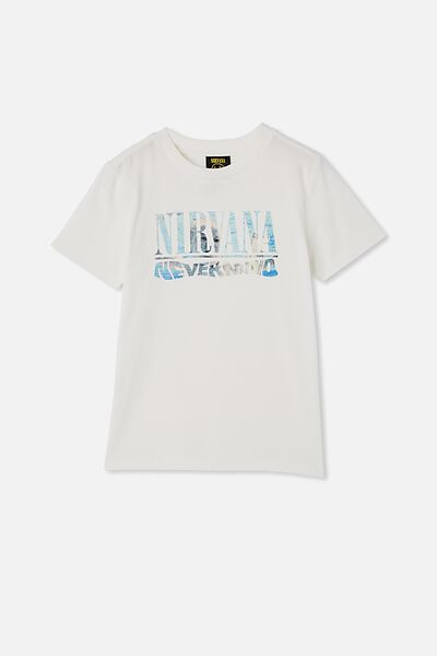 Co-Lab Short Sleeve Tee, LCN LIV RETRO WHITE / NEVERMIND NIRVANA