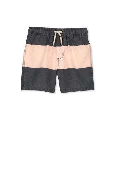 Murphy Swim Short, GRAPHITE/PEACH PANEL