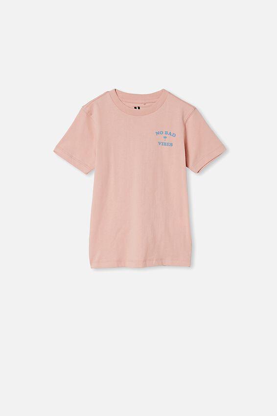 Max Skater Short Sleeve Tee, ZEPHYR /NO BAD VIBES