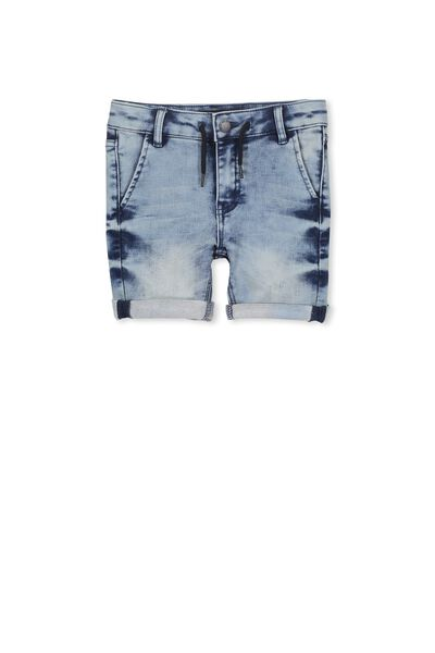 Jerry Loop Back Short, ACID BLUE WASH