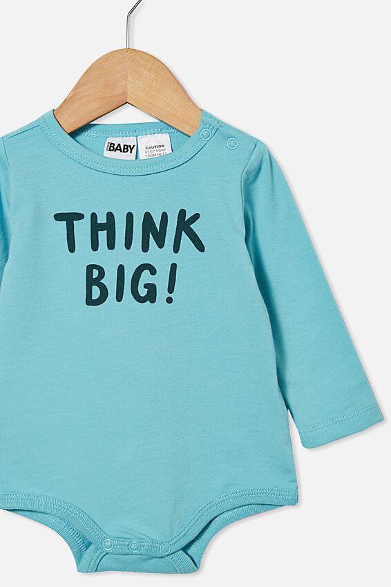 The Long Sleeve Bubbysuit, BLUE ICE/THINK BIG