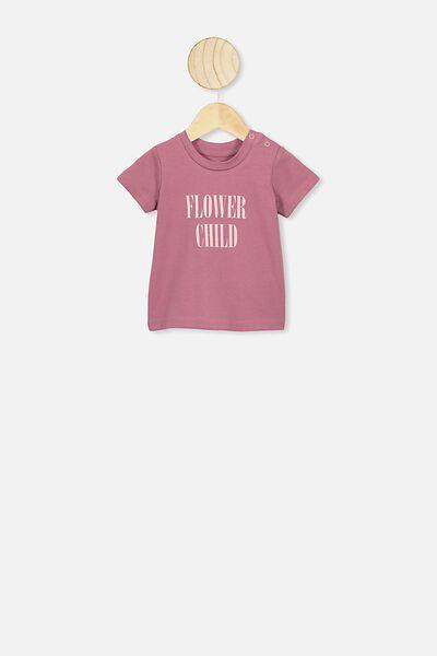 Jamie Short Sleeve Tee, VINTAGE BERRY/FLOWER CHILD