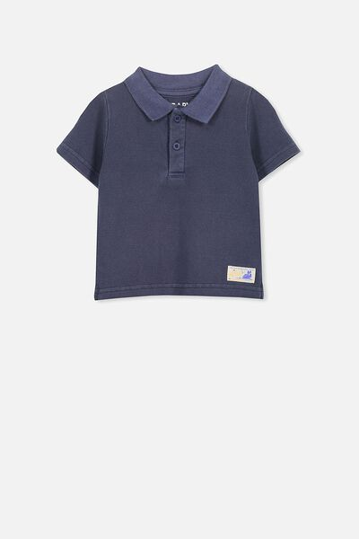 Hugo Polo Tee, WASHED NAVY