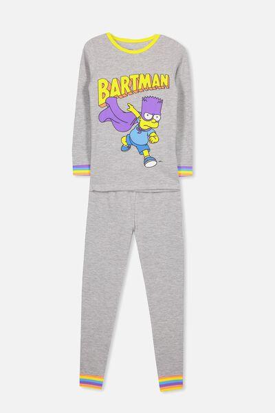 Tom Boys Long Sleeve Waffle Pajama Set, LCN BARTMAN