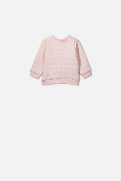 Scout Quilted Sweater, CRYSTAL PINK