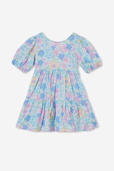 Georgia Short Sleeve Dress, VANILLA/BRONTE FLORAL