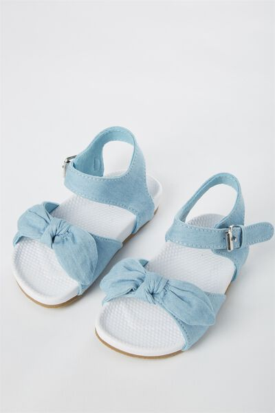 Mini Knot Sling Back, CHAMBRAY