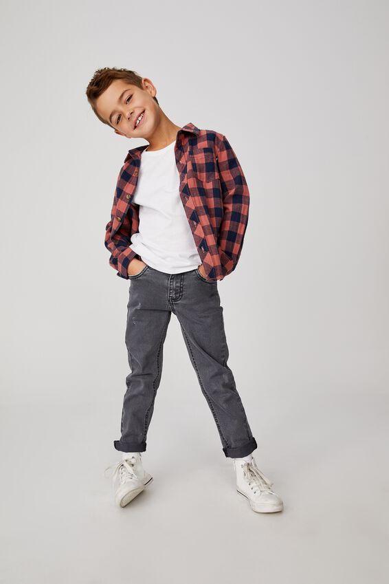 Ollie Slim Leg Jean, GUNMETAL WASH