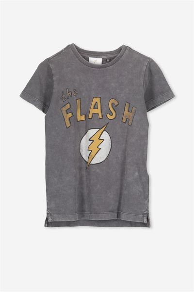 Short Sleeve License Tee, GRAPHITE WASH/FLASH