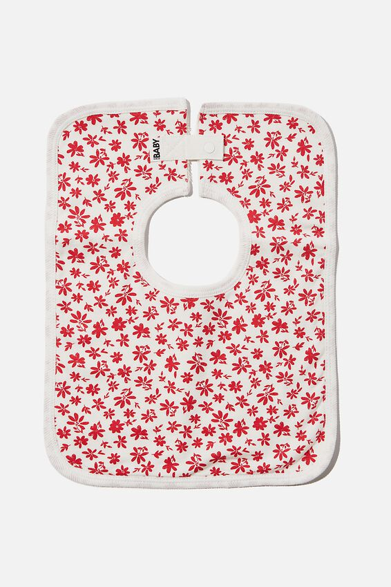The Darcey Square Bib, VANILLA/LUCKY RED TAYLOR FLORAL