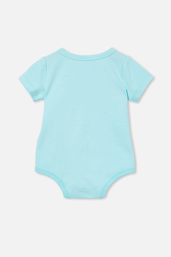 The Short Sleeve Bubbysuit, DREAM BLUE/HIVE OF ACTIVITY