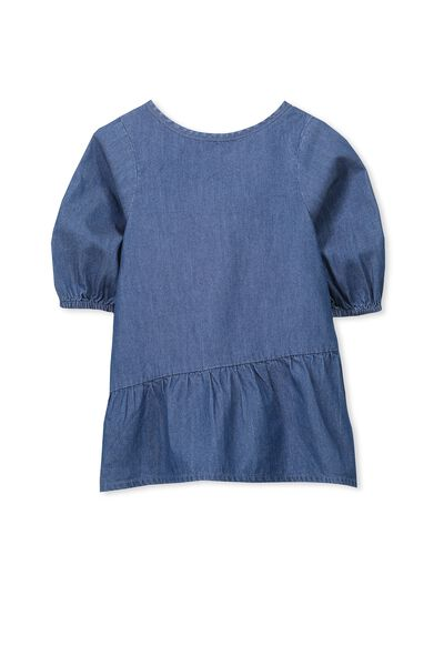 Clara Ls Dress, CHAMBRAY BLUE