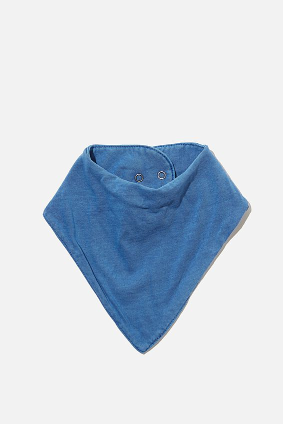 Selby Bandana Bib, PETTY BLUE WASH