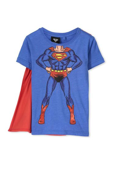 Ss Licence Cape Tee, JERSEY BLUE MARLE/SUPERMAN