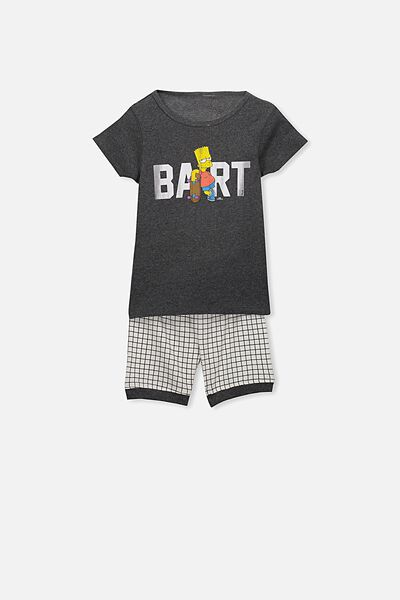 Joshua Boys Short Sleeve Pyjama Set, BART SIMPSON