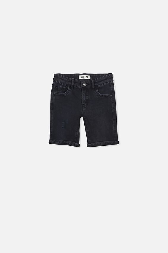 Bermuda Dnm Short, BLACK WASH