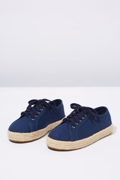Lace Up Espadrille, NAVY