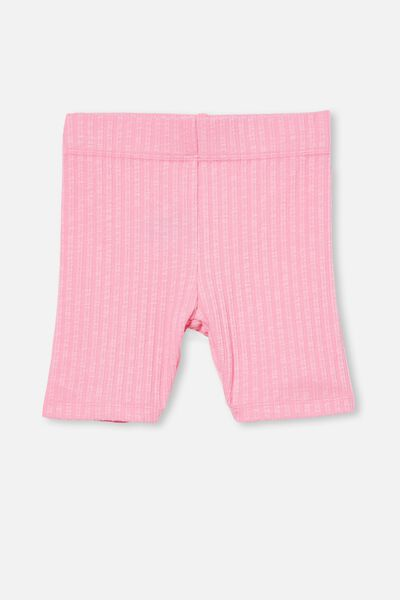 Hailey Bike Short, CALI PINK RIB