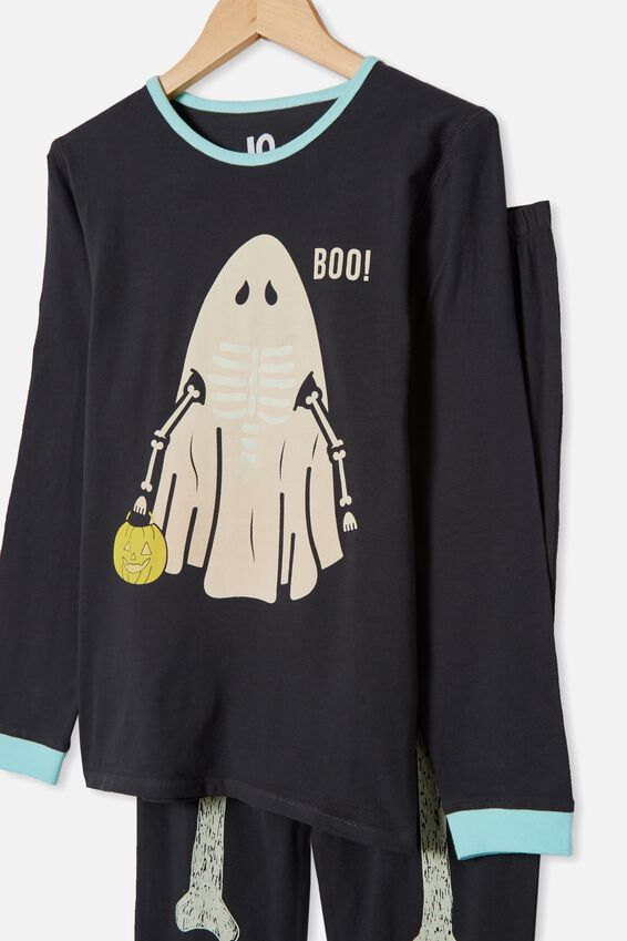 Orlando Long Sleeve Pyjama Set, PHANTOM/SKELETON GHOST
