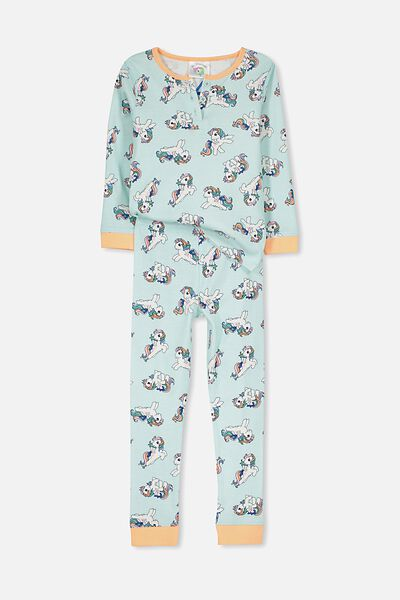 Alicia Long Sleeve Girls PJ Set, MY LITTLE PONY RAINBOW PL